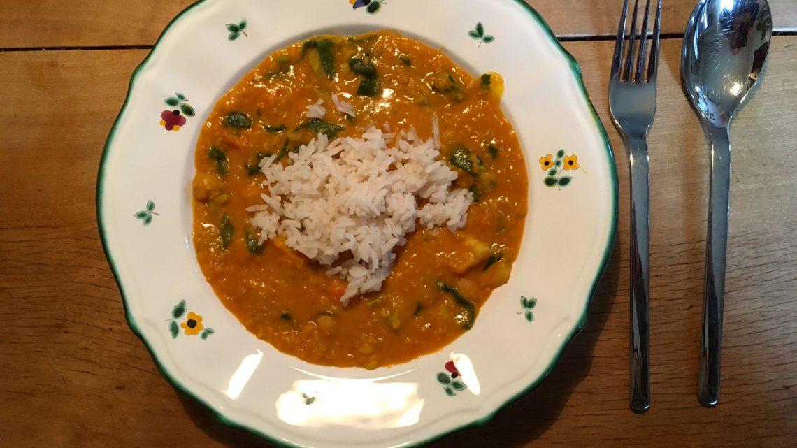 Ein besonders feines Gemüse-Curry